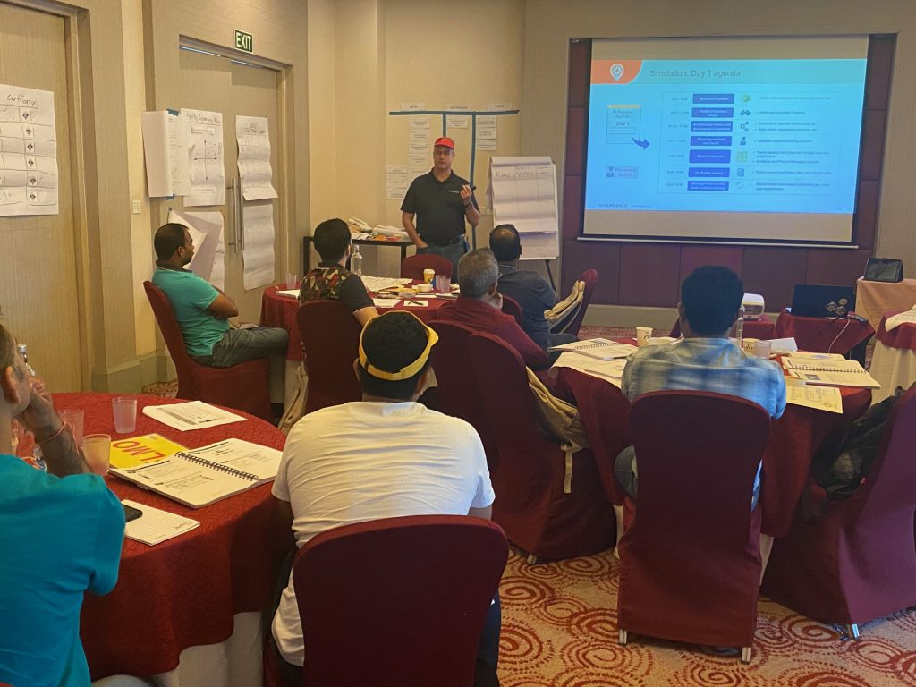 , Implementing SAFe 5.0 class at Radission Hyderabad in February 2020, Empiric Management Solutions